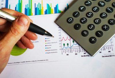 Office Pen Calculator Computation Data Chart